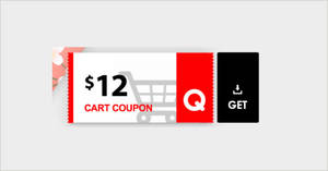 Qoo10: Grab free $12 cart coupons (usable with min spend $100) till 2 October 2020