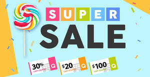 Qoo10 Super Sale – grab 30%, $20 & $100 cart coupons! Valid till 24 Mar 2019
