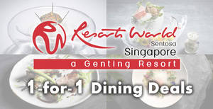 Resorts World Sentosa is offering 1-for-1 Dining Deals with Mastercard at selected restaurants till 30 Jun 2019