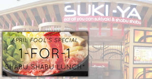 Featured image for SUKI-YA to offer 1-for-1 All-You-Can-Eat Shabu-shabu lunch at almost ALL outlets on 1st April 2019
