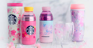 Selected Starbucks Japan Exclusive Sakura Blooms merchandise now available in S'pore stores from 25 Mar 2019