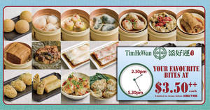 Featured image for Tim Ho Wan is offering dim sum bites at only $3.50++ each from Mondays to Fridays at almost ALL outlets!