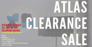 Atlas Warehouse Clearance Sale from 25 – 27 April 2019