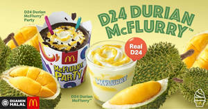 McDonald's Malaysia brings back D24 Durian Desserts, Chicken Foldover and Nasi McD & more from 22 April 2019