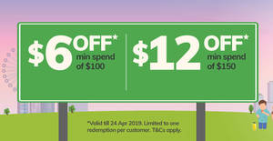 Fairprice Online: $6 / $12 off coupon codes valid from now till 24 April 2019