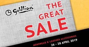 Goldlion up to 90% off sale at Singapore Expo from 26 – 28 Apr 2019
