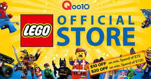 LEGO's online store has officially launched on Qoo10 – check out opening specials & more! Valid till 8 May 2019