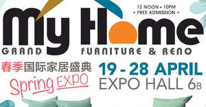 My Home Spring 2019 Furniture & Reno Fair from 19 – 28 April 2019