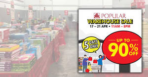 Popular warehouse sale to return with discounts of up to 90% off from 17 – 21 April 2019