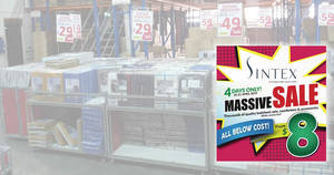 Sintex's massive sale offers deals from $8 onwards! Happening from 18 – 21 April 2019