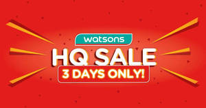 Watsons HQ sale: Buy 1 Get 1 Free deals, up to 79% off on Blackmores / SK-II / Estée Lauder & more! From 16 – 18 Apr 2019