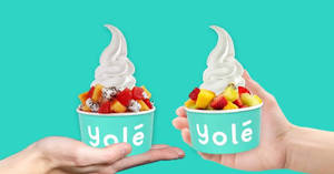 Featured image for Yolé: 50% off your second Yolé in the same purchase at selected outlets till 16th May 2019 (Mon-Thu)