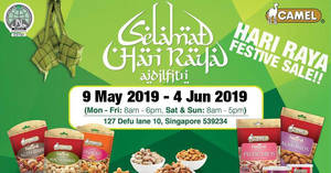 Camel Nuts Hari Raya Season festive sale from 9 May – 4 June 2019