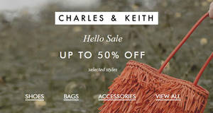 Charles & Keith: Hello, Sale! Up to 50% off selected women's shoes, bags and accessories till 28 May 2019
