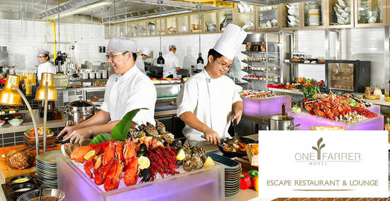 Featured image for Escape Restaurant & Lounge (One Farrer Hotel): 1-for-1 Lunch and Dinner Buffet with DBS/POSB cards till 31 Aug 2019