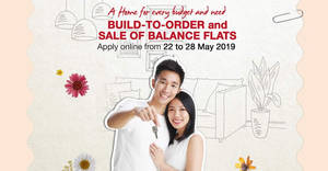 HDB Launches 6,753 Flats in May 2019 BTO and SBF Exercise