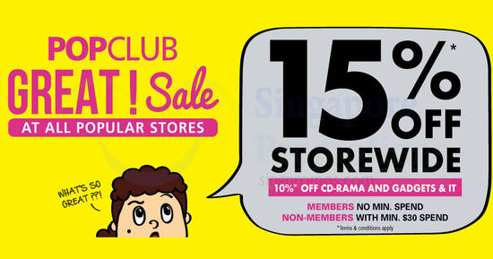 Featured image for POPULAR: 15% off storewide and 10% off CD-RAMA & Gadgets & IT products till 8 Sep 2019