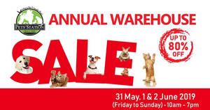 Featured image for Pets' Station's warehouse sale returns with discounts of up to 80% off from 31 May – 2 Jun 2019