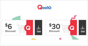 Qoo10: Grab free $6 and $30 cart coupons till 7 Dec 2019