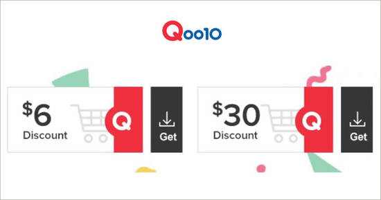 Featured image for Qoo10: Grab free $6 and $30 cart coupons till 7 Dec 2019