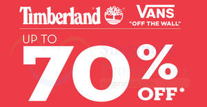 Featured image for There's a Timberland and Vans sale with discounts of up to 70% off from 30 May – 11 Jun 2019