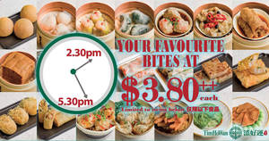 Featured image for Tim Ho Wan $3.80++ Dim Sum Tea Time Promo is Back at Jurong Point! Valid every Monday to Friday