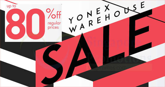 Featured image for Yonex warehouse sale with up to 80% off on badminton and Tennis Racquets, Apparels, Footwear, Accessories & more from 31 May - 2 Jun 2019