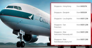 Cathay Pacific is offering special fares fr $228 all-in return to Hong Kong, Bangkok and USA! Book by 1 July 2019