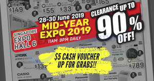 Mid-year Electronics Expo Sale is here, with wide range of electronics items are going at up to 90% off from 28 – 30 June 2019