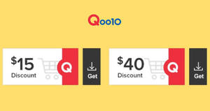 Featured image for Qoo10: Grab free $15 and $40 cart coupons from 29 – 30 Jun 2019