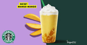 Starbucks' popular Mango Mango Frappuccino® to return from 19 June 2019