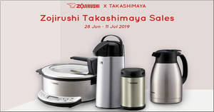 Zojirushi x Takashimaya Fair to return from 28 June to 11 July 2019