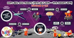 McDonald's latest Happy Meal toys features Peanuts in cooperation with NASA! From 18 July – 14 Aug 2019