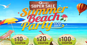 Qoo10's Super Sale is back – grab $10, $20 & $100 cart coupons till 26 July 2019