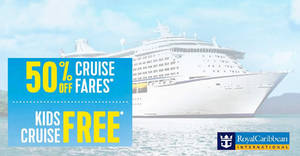 Featured image for Royal Caribbean is offering 50% off selected cruise fares fr $344 (UP $688) from 31 July 2019
