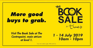 Featured image for The Book Sale by Times Bookstores at Centrepoint till 14 July 2019