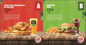 Here are the latest new Burger King e-coupons valid till 31 October 2019