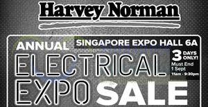 Featured image for Harvey Norman Annual Electrical EXPO Sale from 30 August – 1 September 2019