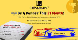 Featured image for Hennsley F1 SG Grand Prix 2019 Sale till 30 Sept 2019
