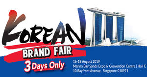 Featured image for Korean Electronics Brand Fair by Megatex from 16 – 18 Aug 2019