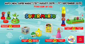 McDonald's latest Happy Meal toys features Super Mario! From 15 Aug – 11 Sep 2019