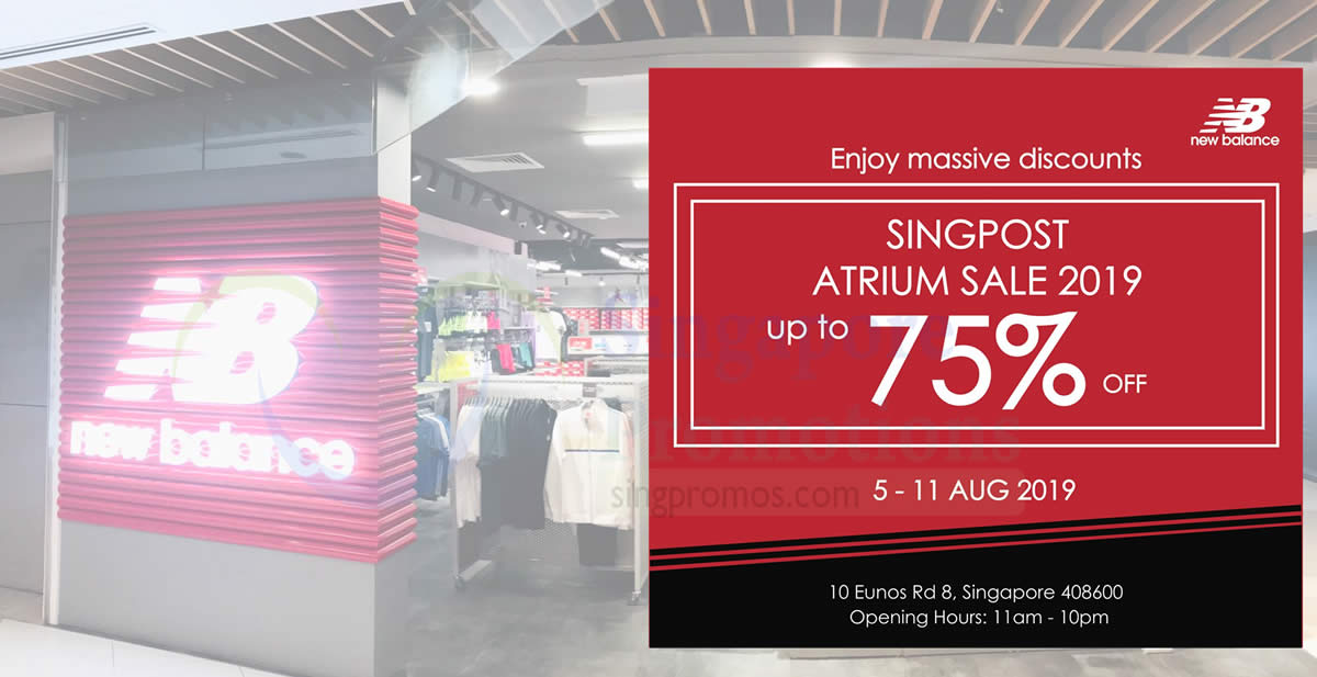 off atrium sale at SingPost Centre from