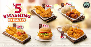 Popeyes launches new $5 Smashing Weekday Deals from 15 August 2019