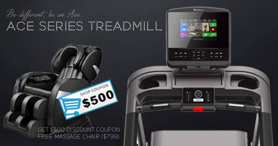 Featured image for Twin H is offering $500 OFF Treadmills and FREE Massage Chair with any purchase! Till 15 August 2019