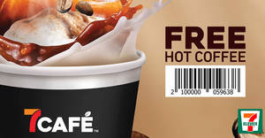 Featured image for 7-Eleven is giving away 10,000 Free Cups of 7café Hot Coffee with any purchase on 1 October 2019