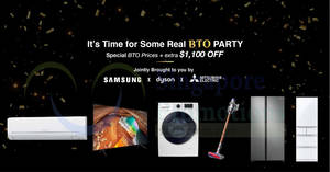 "Samsung, Dyson and Mitsubishi Electric to offer exclusive prices at ""BTO Group Buy Party"" sale from 21 – 22 Sept 2019"