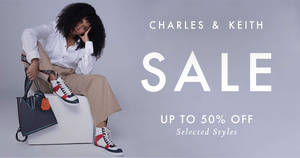 Charles & Keith is having a sale with up to 50% off selected women's bags, shoes and accessories, plus kids' fashion (From 17 Feb)