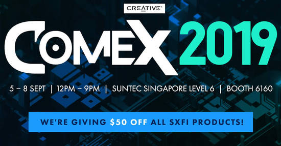 Featured image for [EXTENDED] Creative COMEX 2019 deals are available online till 15 Sept 2019