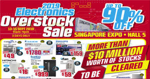 Featured image for Electronics Overstock Sale at Singapore Expo from 13 – 15 September 2019
