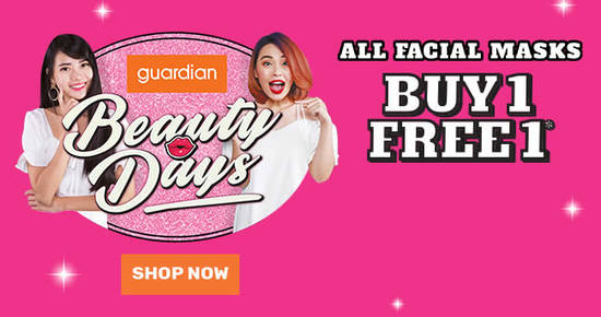 Featured image for Guardian: Buy-1-Get-1-FREE ALL facial masks till 21 Feb 2021